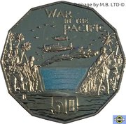 50 Cents - Elizabeth II (War in the Pacific) – revers