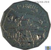 50 Cents - Elizabeth II (Tobruk) -  revers
