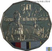 50 Cents - Elizabeth II (Empire Air Training Scheme) -  revers