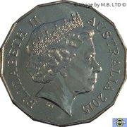 50 Cents - Elizabeth II (Year of the Goat) -  avers