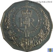 50 Cents - Elizabeth II (Longest-Reigning Commonwealth Monarch) 2015 -  revers