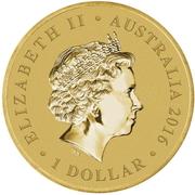1 Dollar - Elizabeth II (4th Portrait - Year of the Monkey) -  avers