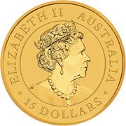 15 Dollars - Elizabeth II (6th Portrait - Kangaroo) -  avers