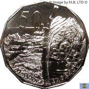 50 Cents - Elizabeth II (Malayan Emergency) -  revers