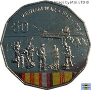 50 Cents - Elizabeth II (Vietnam War) – revers