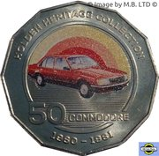 50 Cents - Elizabeth II (Holden VC Commodore) – revers