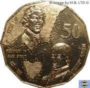 50 Cents - Elizabeth II (Bass & Flinders) -  revers