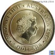 5 Dollar - Elizabeth II (Planetary Coins - The Sun) -  avers