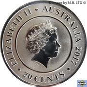 20 Cents - Elizabeth II (Planetary Coins - Uranus) – avers