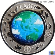 10 Cents - Elizabeth II (Planetary Coins - Earth) – revers