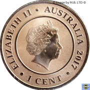 1 Cent - Elizabeth II (Planetary Coins - Pluto) -  avers