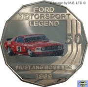 50 Cents - Elizabeth II Ford High Octane - 1969 Mustang Boss 302 Trans-Am -  revers