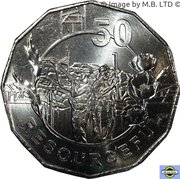 50 Cents - Elizabeth II (Anzac Spirit - Resourceful) -  revers