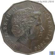 50 Cents - Elizabeth II (Millénaire) -  avers