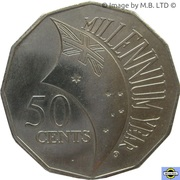 50 Cents - Elizabeth II (Millénaire) -  revers