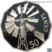 50 cents - Elizabeth II (L'Outback) -  revers