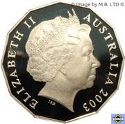 50 cents - Elizabeth II (Volontaires) -  avers