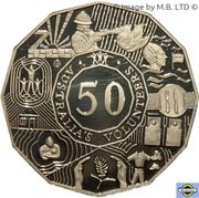 50 cents - Elizabeth II (Volontaires) -  revers