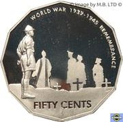 50 cents - Elizabeth II (2ème Guerre mondiale) -  revers