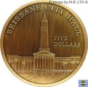 "5 Dollars - Elizabeth II (4th portrait; ""Town Halls"" Brisbane Town Hall) – revers"
