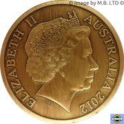 5 Dollars - Elizabeth II (4e portrait; «mairies» Perth Town Hall) – avers