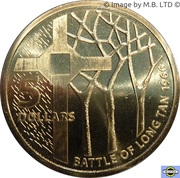 5 Dollars - Elizabeth II (50th Anniversary of The Battle of Long Tan) -  revers