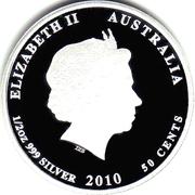 50 Cents - Elizabeth II (Clownfish) -  avers