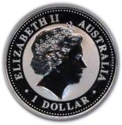 1 Dollar - Elizabeth II 4e portrait; Année du chien (Série 1) – avers