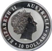 10 dollars Elizabeth II (4e effigie, kookaburra) -  avers