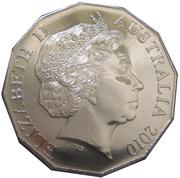50 Cents - Elizabeth II (Royal Engagement) -  avers