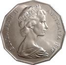 50 Cents - Elizabeth II (Captain Cook) – avers