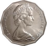 50 Cents - Elizabeth II (Captain Cook) -  avers