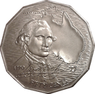 50 Cents - Elizabeth II (Captain Cook) – revers