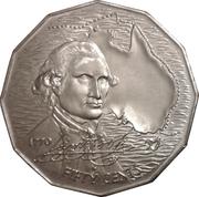 50 Cents - Elizabeth II (Captain Cook) -  revers