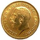 ½ Sovereign - George V – avers