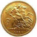 ½ Sovereign - George V – revers