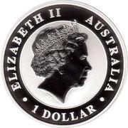1 Dollar - Elizabeth II 4th portrait; (The Australian Stock Horse) Silver Bullion -  avers