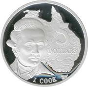 5 dollars James Cook -  revers