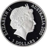 5 dollars - Elizabeth II 4th portrait; A Sea Change II) -  avers