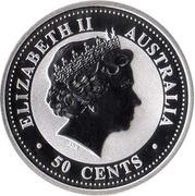 50 cents Année du cheval (série I) – avers