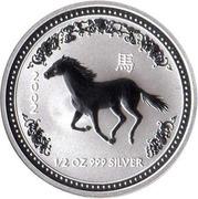 50 cents Année du cheval (série I) – revers