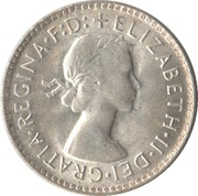 3 Pence - Elizabeth II (1er portrait ; avec