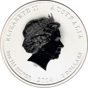 2 dollars Année du cheval (série II) -  avers