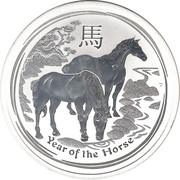 2 dollars Année du cheval (série II) -  revers