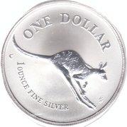 1994 Australia .999 silver Kangaroo Dollar -  revers
