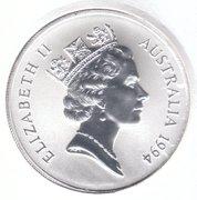 1994 Australia .999 silver Kangaroo Dollar -  avers
