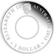 1 Dollar - Elizabeth II (4e portrait; 200e anniversaire de l'Australian Dollar Holley et Dump) -  avers
