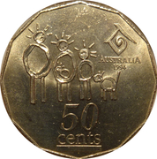 50 Cents - Elizabeth II (Year of the Family) -  revers
