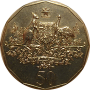 50 Cents - Elizabeth II (Fédération de l'Australie) -  revers