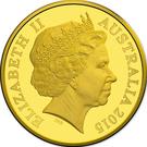 25 Dollars - Elizabeth II (4th portrait; UNESCO Great Barrier Reef) 2015 – avers